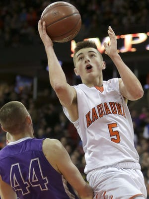 Jordan McCabe led Kaukauna to the WIAA Division 2 state championship with a 91-62 victory over Waunakee. McCabe scored 55 points in two state tournament games, including 24 in the title-clinching victory over Waunakee on March 19.