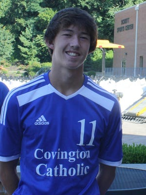Bryce Day had a key goal Monday for CovCath.