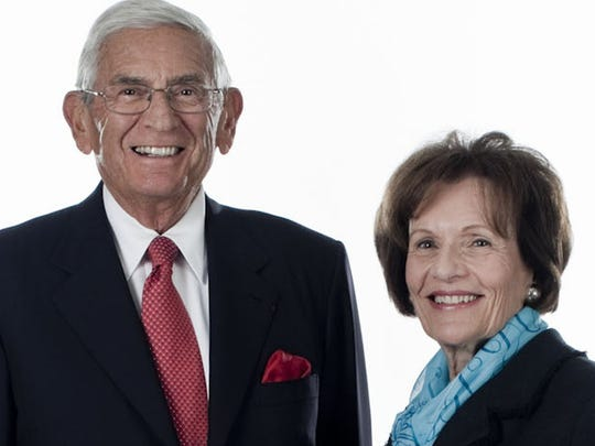 Eli Broad and his wife Edythe