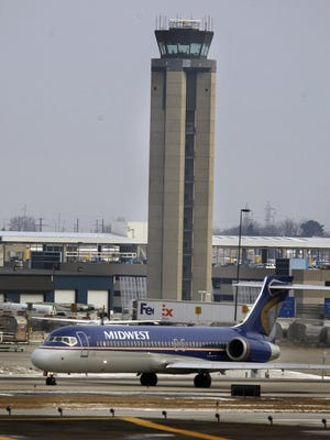 A Midwest Express jet is shown in 2009 at Mitchell International Airport in Milwaukee.