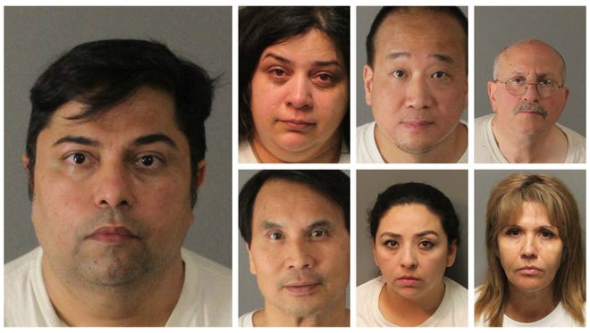 (Left): Payman Heidary Top row: Touba Pakdel Nabati, Jason Yang, Cary Abramowitz Bottom row: Quynam Nguyen, Ana Solis, Gladys Ross