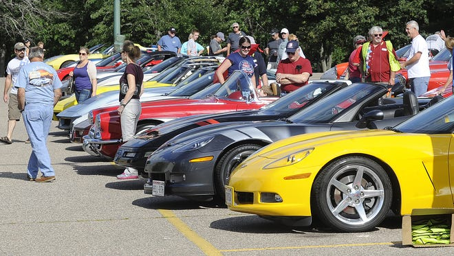 Corvettes of the North Car Cruise and Car Show in Wisconsin Rapids.