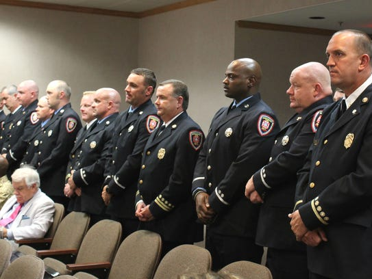 Shreveport firefighters recognized at city council