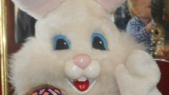 Police say an Ohio woman has been arrested for making lewd comments to an Easter Bunny.