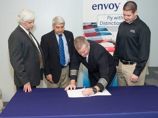 Envoy Airline Partnership Sighing