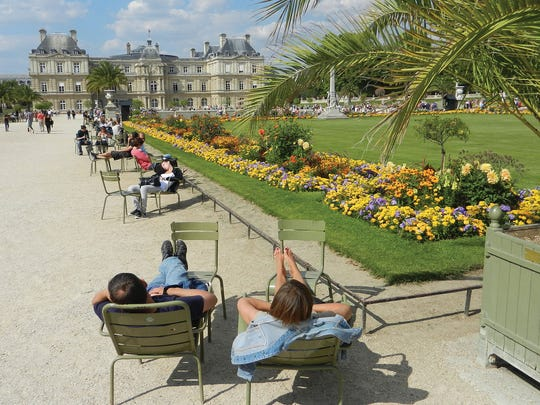 Put your weary feet up in Luxembourg Garden, a picturesque