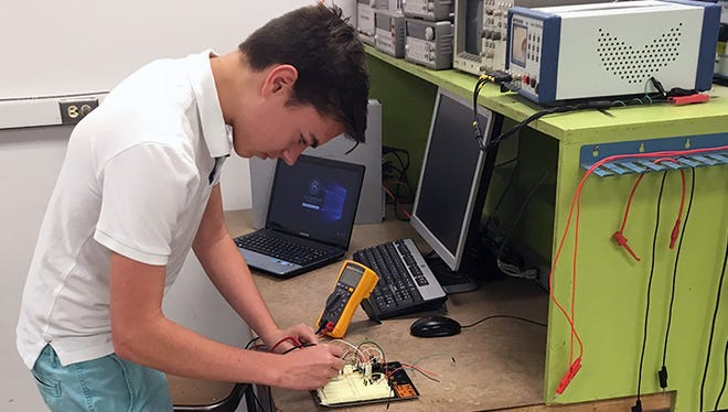 Mayfield High School senior Jacob Hammond will be headed to the New Mexico State University College of Engineering when he graduates to earn a degree in electrical engineering. He performed research in a variety of engineering departments over the past summer.