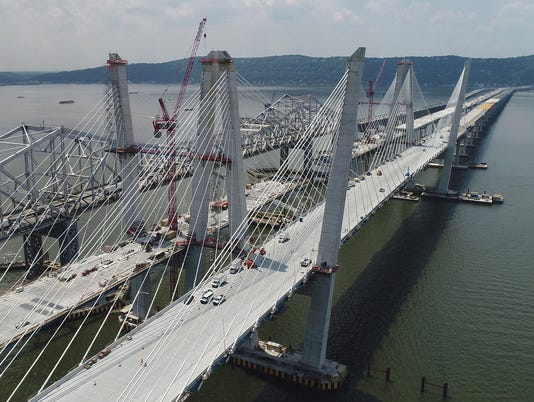 New Tappan Zee Bridge construction