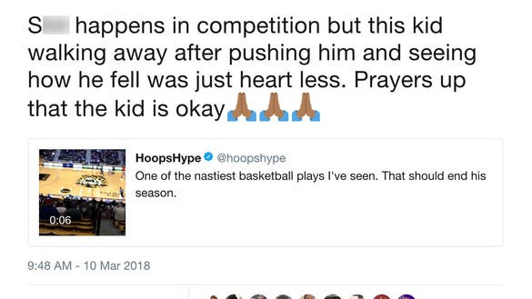 Basketball twitter is melting down over this foul