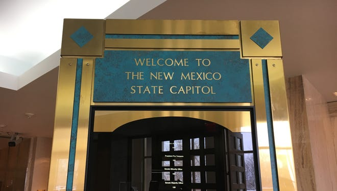 Inside the New Mexico State Capital building.