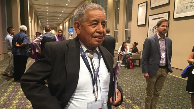 Edward Manuel, Arizona resident and chairman of the Tohono O'odham Nation, attended the Native American Council caucus at the Democratic National Convention in Philadelphia.