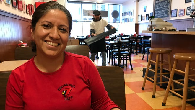 Gladys Ibarra owns the Cardinal Cafe in Pompton Lakes with her husband Manny. After 20 years the couple is moving the cafe to a new location down the street.