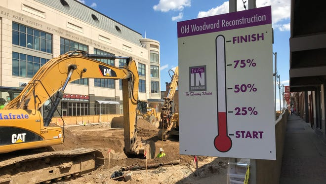 The Old Woodward reconstruction project is 25 percent done through Birmingham.