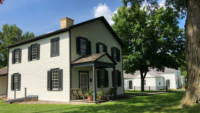 "The Historic Indian Agency House outside Portage was finished in 1832 for John and Juliette Kinzie. He was the government liaison to the Ho-Chunk people and she authored the book, ""Wau-Bun - 'Early Day' in the Northwest. A museum stands to the rear."