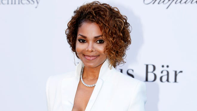 In this May 23, 2013, photo, singer Janet Jackson arrives at amfAR Cinema Against AIDS benefit at the Hotel du Cap-Eden-Roc, during the 66th international film festival, in Cap d'Antibes, southern France.