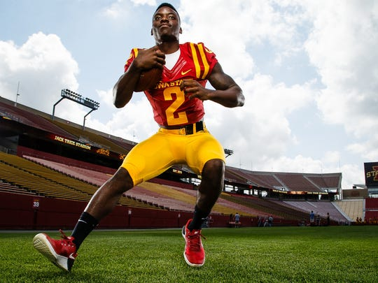 The Cyclones Mike Warren poses for a portrait during media day on Tuesday, August 9, 2016 in Ames.