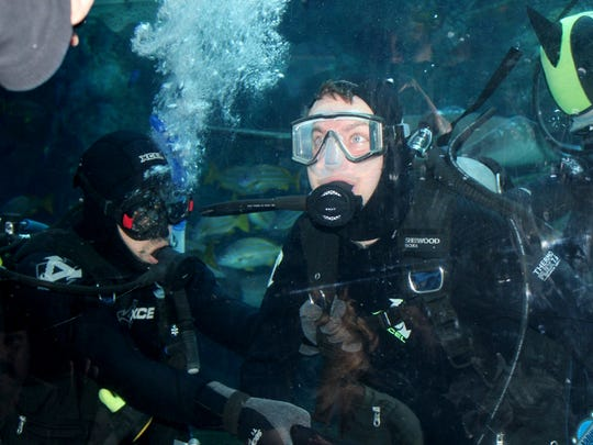 Brian Keefer learned how to scuba dive in 2014 at the Aquarium of the Pacific in Long Beach, Calif.
