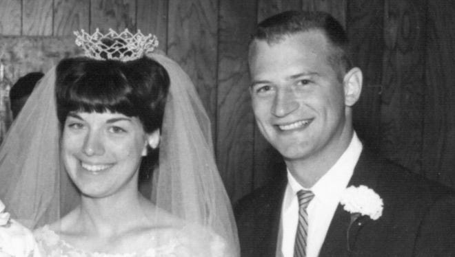Dick and Janet Grota on their wedding day, June 18, 1966.