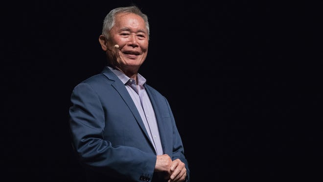 Activist/actor George Takei speaks onstage during 'An Evening with George Takei' at the Long Center in Austin, Texas.