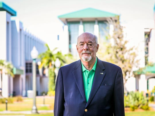 fGCU president Michael Martin is a finalist for 2018 Person to Watch.