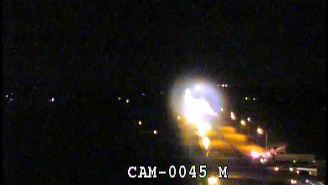 Traffic was shut down on eastbound I-64 immediately following the crash.