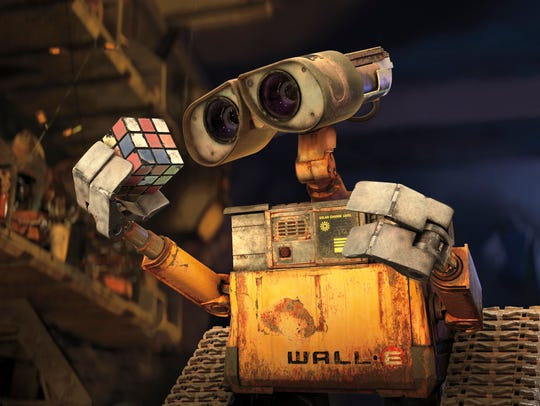 "A scene from Disney/PIXAR's animated movie ""Wall•E"""