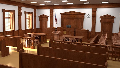 Empty courtroom.