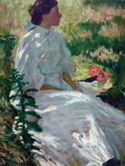 Charles Webster Hawthorne, A Study in White, c. 1900, oil on canvas.