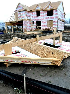 Construction in the StoneLeigh subdivision at 10 Mile and Milford roads in this 2013 file photo. Lyon Township continues to grow, according to U.S. Census Bureau population estimates.