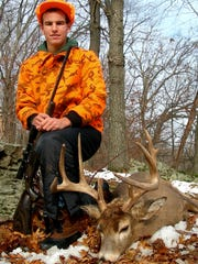 Terry Durkin, now a Virginia resident, shot this 8-point buck as a teenager while hunting in 2005 with family members on his grandparents' farm in Richland County.