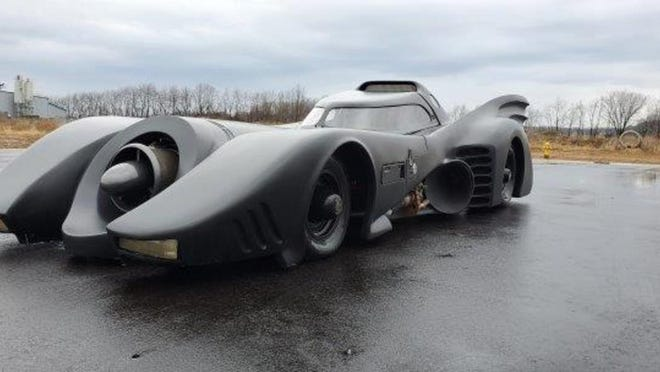 """A 1995 Chevrolet Caprice Classic customized as a """"Batmobile"""" will be part of a car auction Aug. 1 at Skipco Auto Auction, 700 Elm Ridge Ave., Canal Fulton."""