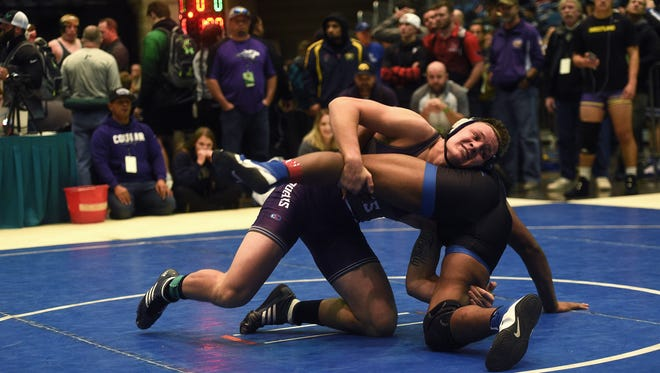 Spanish Springs' Colby Preston, top, shown at the Reno Tournament of Champions, will compete in the Sierra Nevada Classic this week  at the Reno Livestock Events Center.