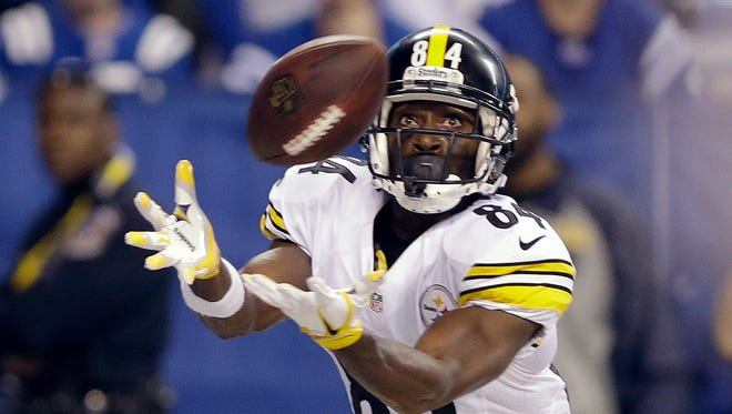 It been a controversial week for wideout Antonio Brown, above, and the Pittsburgh Steelers. AP FILE PHOTO