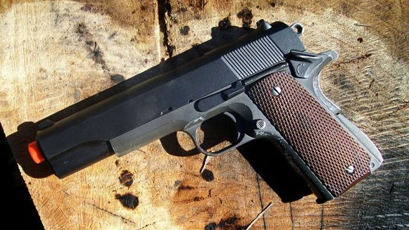 An airsoft gun is shown in this file photo.