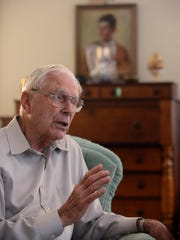 Retired Gen. Chick Cleveland at his home in Montgomery, Ala. on Wednesday March 18, 2015.
