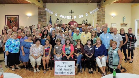 Members of the Port Clinton High School Class of 1977 came many states to celebrate the 40th reunion in September.