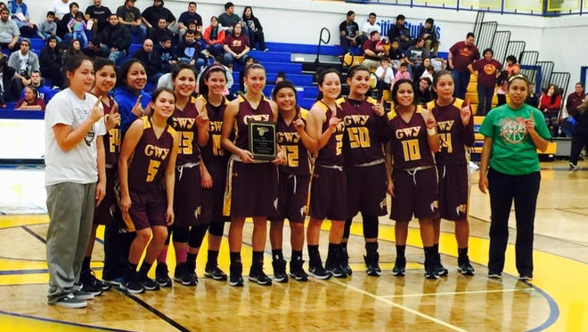 The Cherokee girls basketball team.