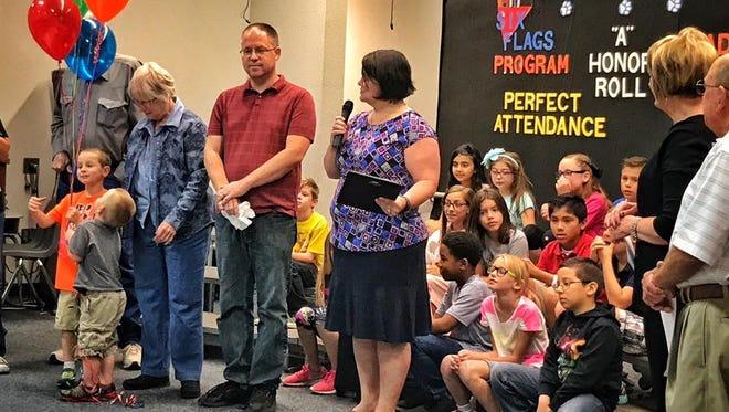 West Foundation Elementary 3rd grade teacher Charisse Humphreys.