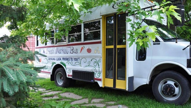 The Fresh Market Bus delivers fresh vegetables throughout Fond du Lac County.