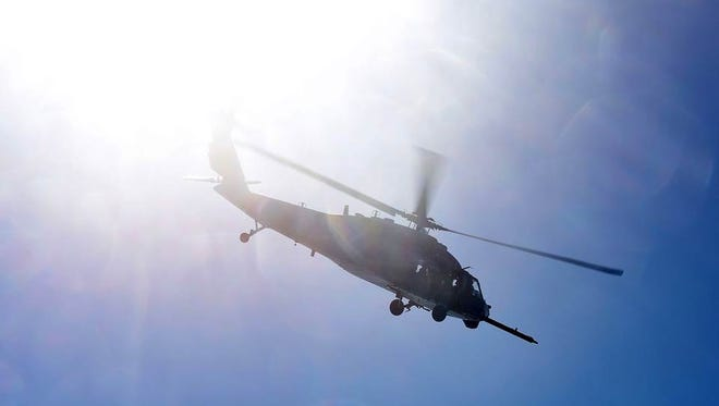 All seven service members aboard a U.S. helicopter were killed when it crashed in western Iraq on Thursday, the U.S. military said Friday.