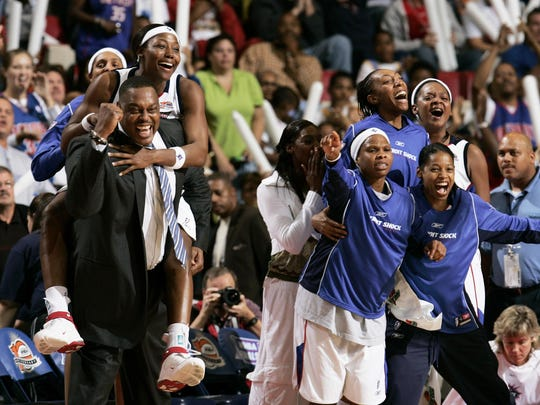 In another top moment at the Joe, the Detroit Shock won the 2006 WNBA Finals.