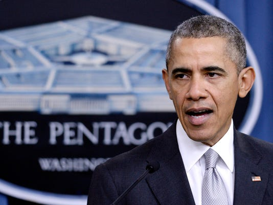 At Pentagon, Obama leads strategy session about Islamic State terror