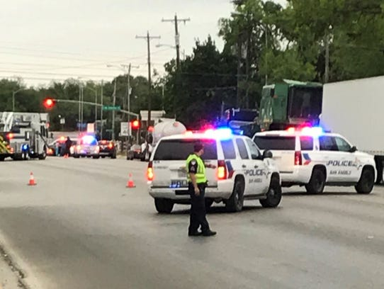 A crash occurred at South Abe Street and West Concho