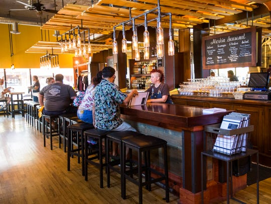 Interior of the Merkin Vineyards tasting room and Osteria