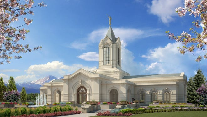 This rendering shows the end product of the completed Church of Jesus Christ of Latter-day Saints temple that is now under construction at the southeast of the intersection of Timberline and Trilby roads in southeast Fort Collins.
