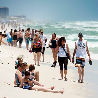 Visitors to Pensacola Beach are only allowed to walk