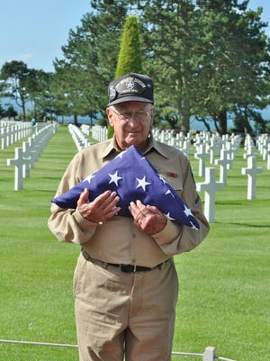 Harvey Segal visits the Normandy American Cemetery and Memorial in August 2012. The site honors Americans who fought to liberate France.