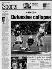 IndyStar Sports front from Sept. 11, 2000