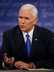 Republican vice-presidential nominee Gov. Mike Pence