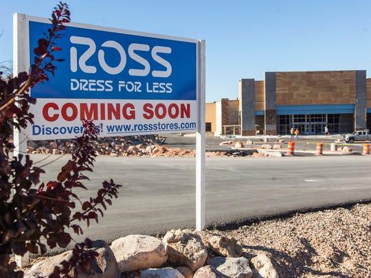 Cedar City's Ross Dress For Less under construction, Tuesday, Nov. 15, 2016.